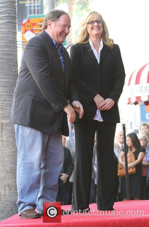 John Lasseter, Bonnie Hunt and Star On The Hollywood Walk Of Fame 3