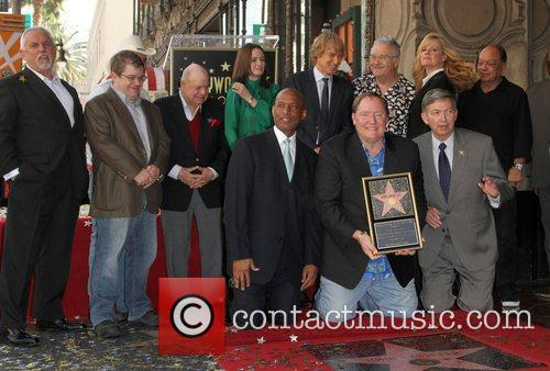 John Ratzenberger, Bonnie Hunt, Cheech Marin, Don Rickles, Emily Mortimer, John Lasseter, Owen Wilson, Patton Oswalt, Randy Newman and Star On The Hollywood Walk Of Fame 8