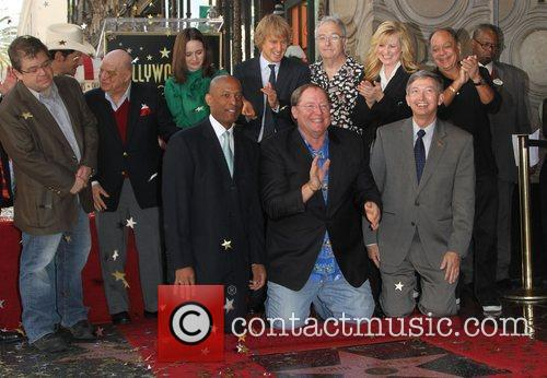 Patton Oswalt, Bonnie Hunt, Cheech Marin, Don Rickles, Emily Mortimer, John Lasseter, Owen Wilson, Randy Newman and Star On The Hollywood Walk Of Fame 1