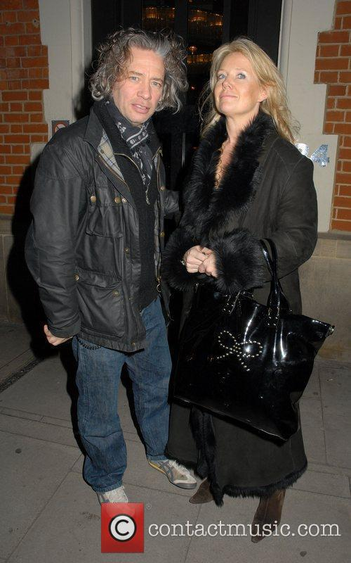Dexter Fletcher and Guest outside The Hospital Club...