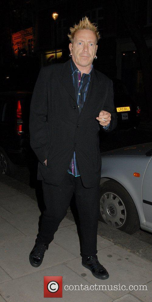 John Lydon  outside The Hospital Club to...