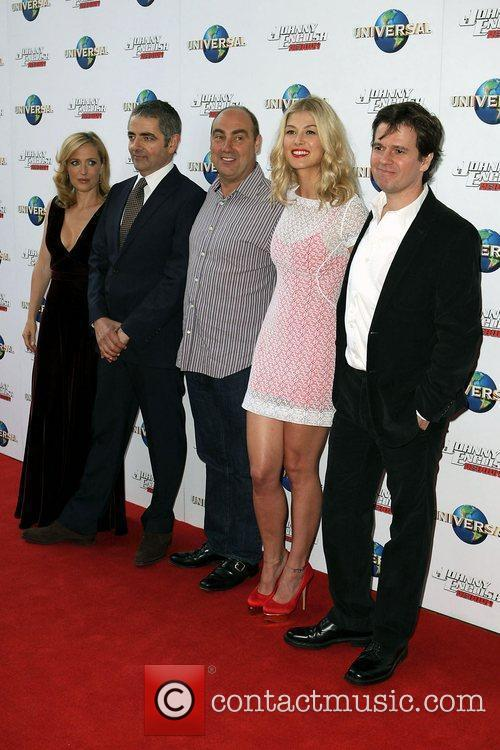 Gillian Anderson, Chris Clark, Oliver Parker, Rosamund Pike and Rowan Atkinson 2
