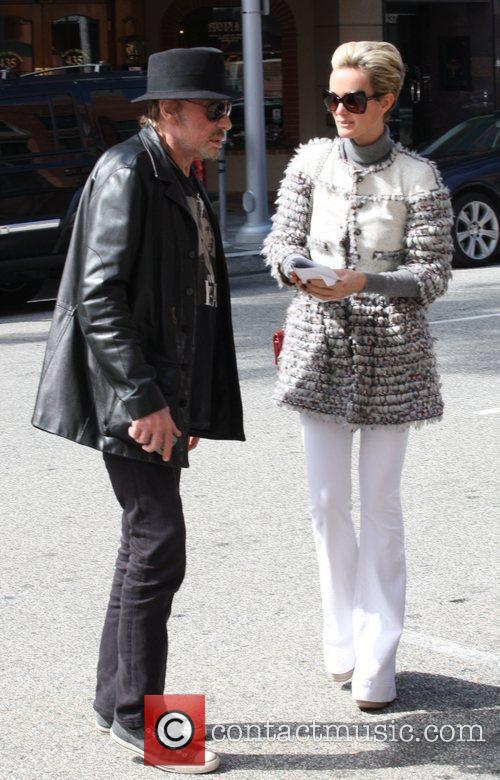 Johnny Hallyday and his wife Laeticia Hallyday on...