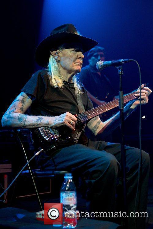 Johnny Winter performing live at Tradgar'n in Gothenburg...