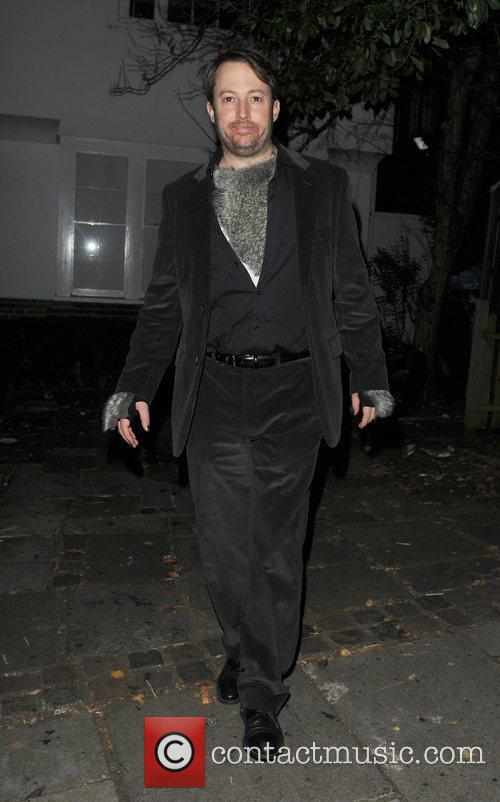 David Mitchell outside the home of Jonathan Ross,...