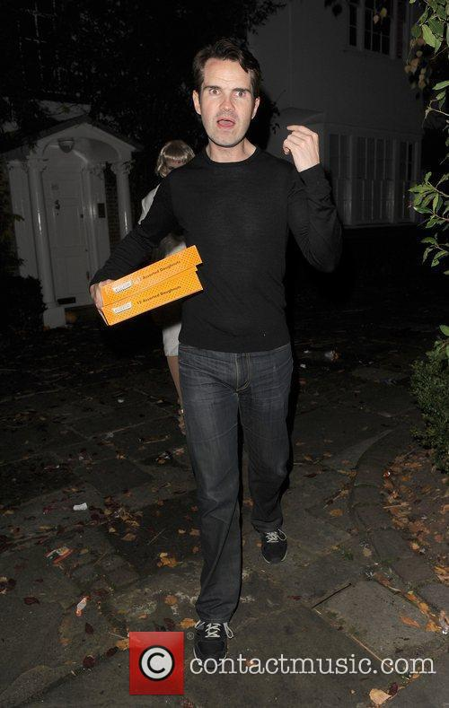 Jimmy Carr outside the home of Jonathan Ross,...