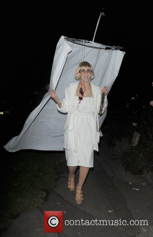Karoline Copping outside the home of Jonathan Ross,...