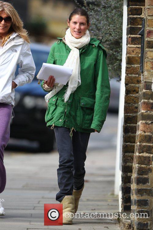 Jools Oliver  departs a cafe in Primrose...