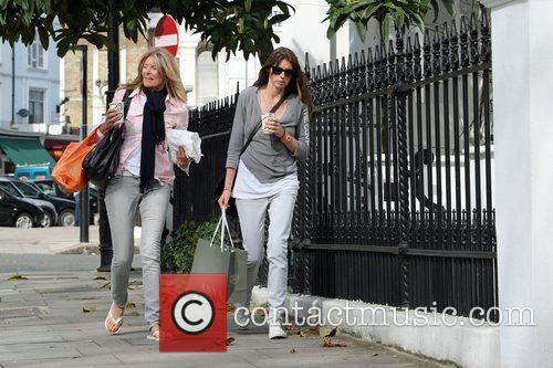 Jools Oliver and her mother walking through Primrose...