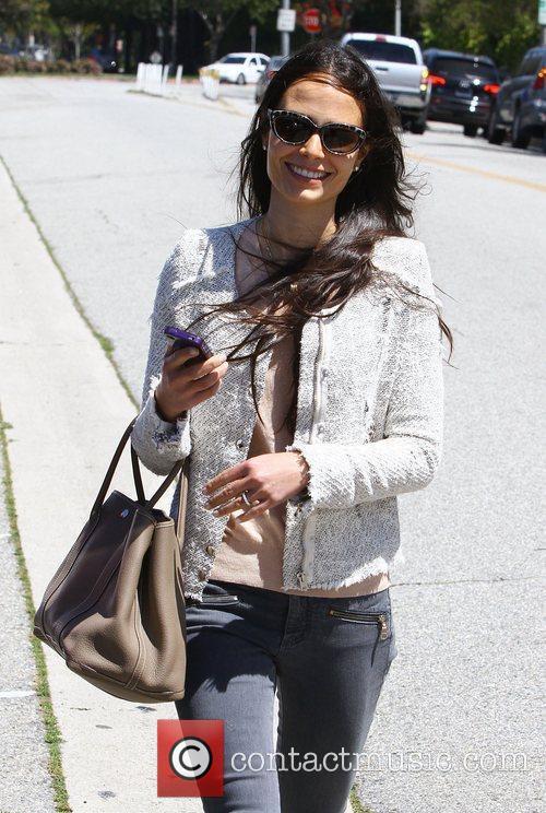 Actress, Jordana Brewster, leaving a hair salon in...