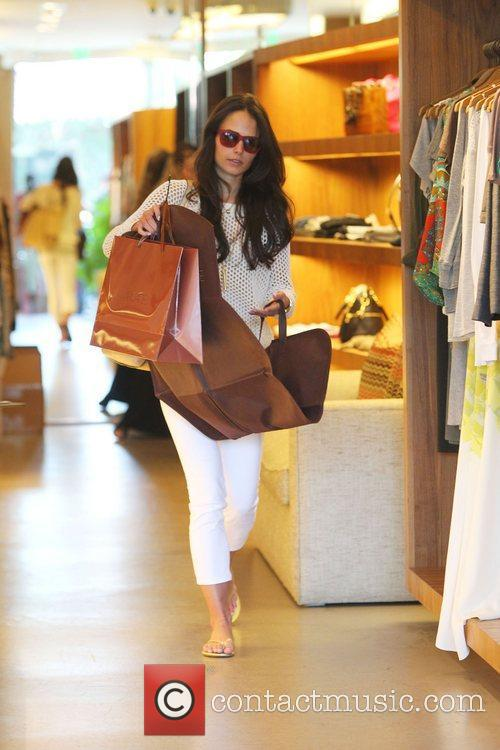 Jordana Brewster shopping in Beverly Hills Beverly Hills,...
