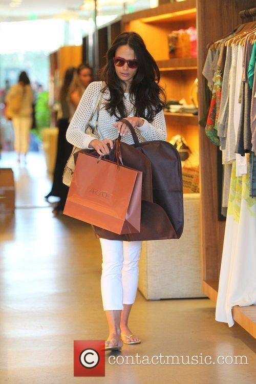 Jordana Brewster shopping in Beverly Hills