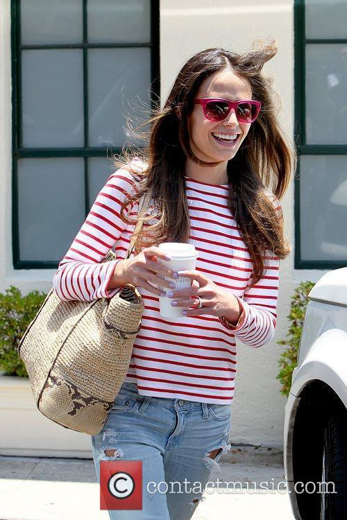 Jordana Brewster   leaving a blow dry...