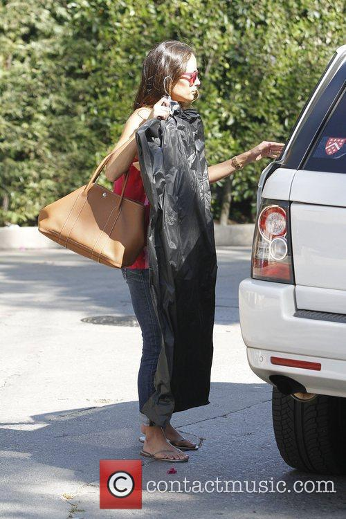 Jordana Brewster visits a friend in West Hollywood