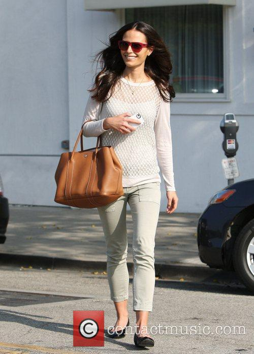 Leaving a hair salon in Beverly Hills