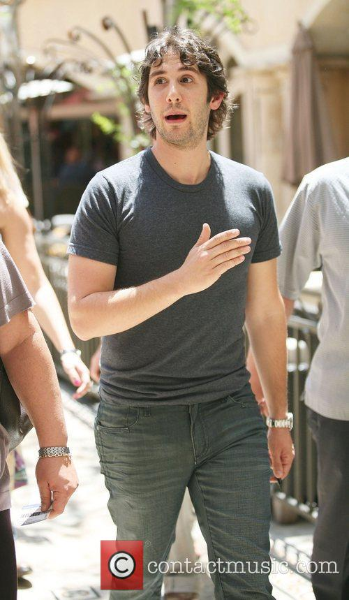 Josh Groban heads to The Grove to film...