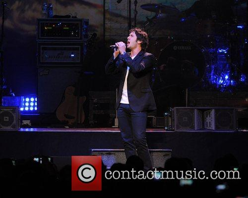 Josh Groban performs during the Straight To You...