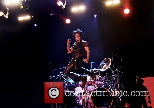 Arnel Pineda of Journey performing at Manchester MEN...