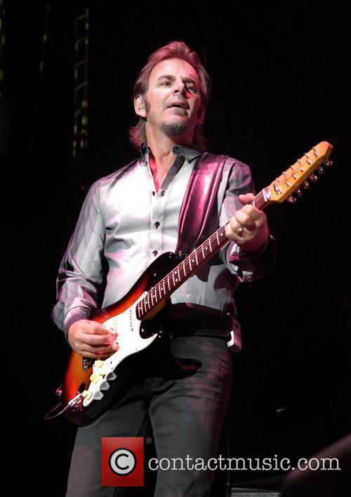 Jonathan Cain of Journey performing at Manchester MEN...
