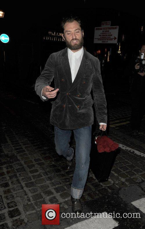 Jude Law leaving the Donmar Warehouse.