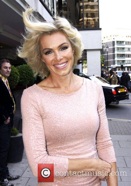 Nell McAndrew,  at the 50th Anniversay party...
