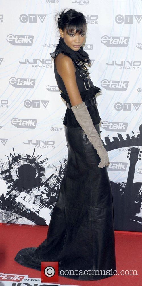 Chanel Iman  2011 JUNO Awards held at...