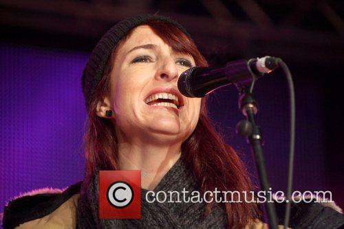 Hannah Georgas performs at the JUNO Block Party...