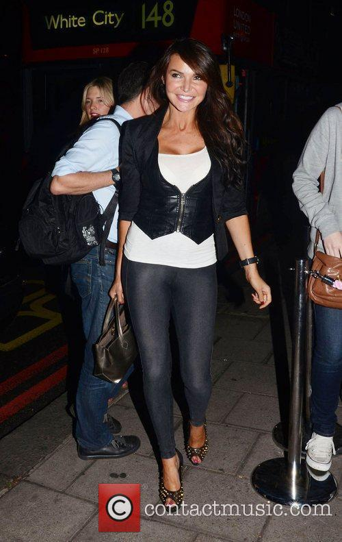 Lizzie Cundy  celebrities outside the 'Just Dance...