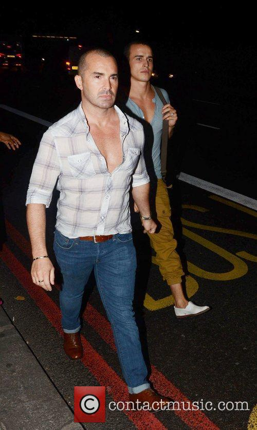 Celebrities outside the 'Just Dance 3' launch party...