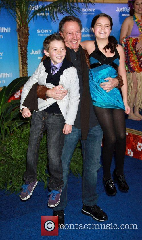 Griffin Gluck, Bailee Madison and Dennis Dugan