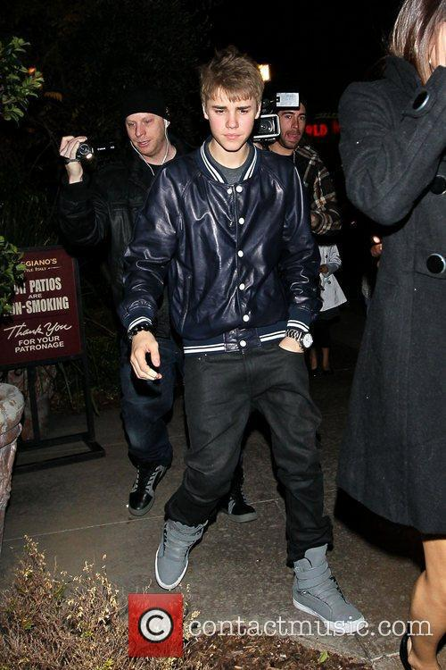 Justin Bieber arriving with his rumoured girlfriend, Selena...