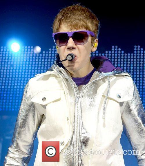 Justin Bieber performing live at The O2, as...