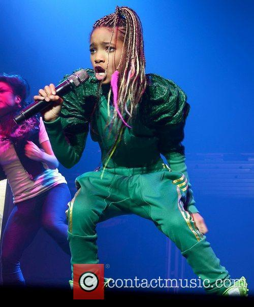 Willow Smith performing live at The O2, as...