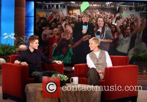 Justin Bieber and Ellen DeGeneres  * BIEBER...