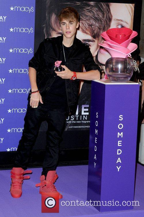Justin Bieber promotes his new fragrance 'Someday' with...