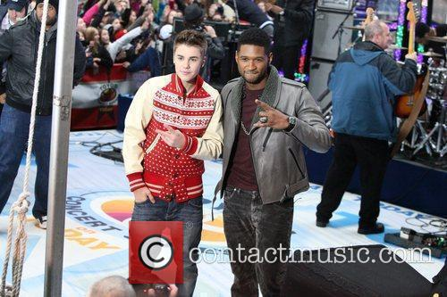 Justin Bieber and Usher 2