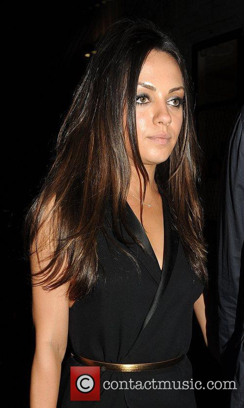 Mila Kunis leaving Nobu restaurant in Mayfair with...