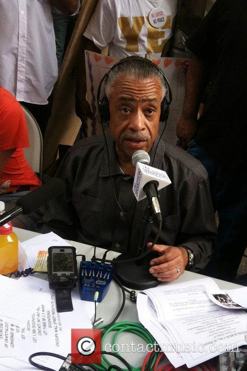 Al Sharpton visits the Occupy Wall Street demonstrations....