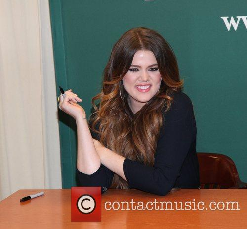 Khloe Kardashian  signs copies of her new...