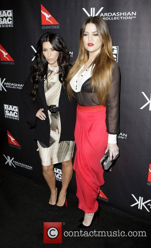 Kim Kardashian and Khloe Kardashian The launch of...