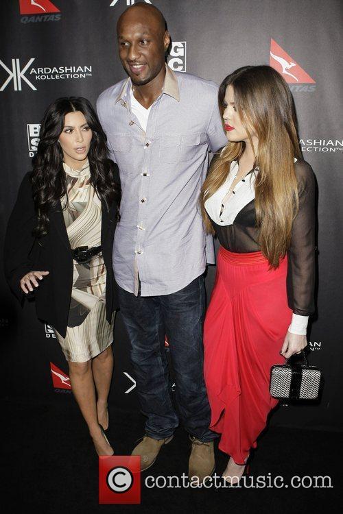 Kim Kardashian, Lamar Odom and Khloe Kardashian The...