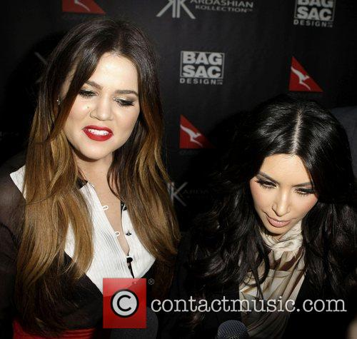 Khloe Kardashian and Kim Kardashian The launch of...