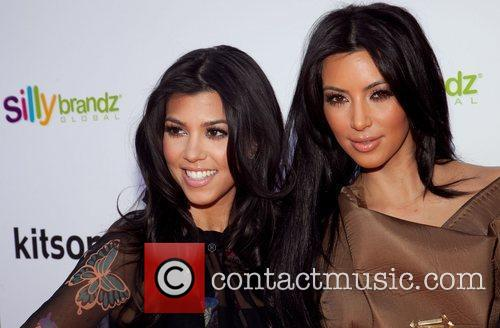 Kourtney Kardashian and Kim Kardashian 1