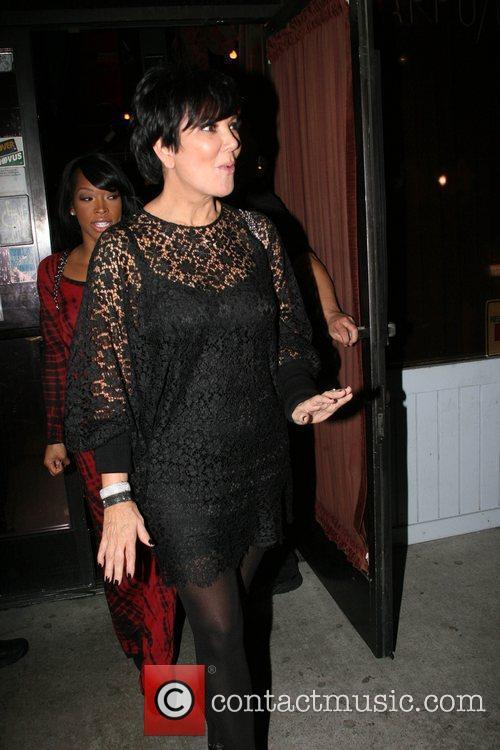 Kris Jenner The Kardashian's leaving El Floridita Cuban...