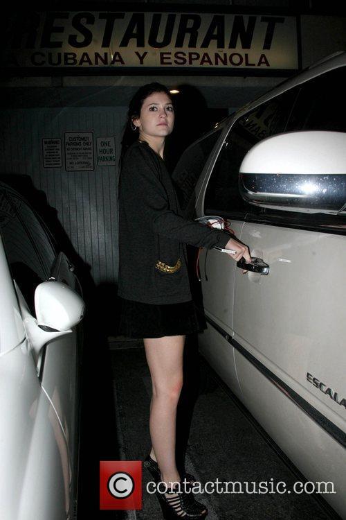 Kylie Jenner The Kardashian's leaving El Floridita Cuban...