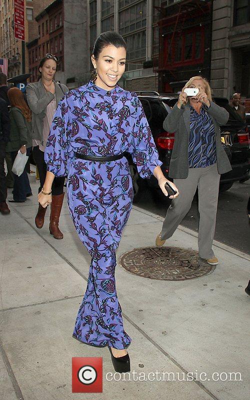 Kourtney Kardashian is seen leaving the Gansevoort Hotel...