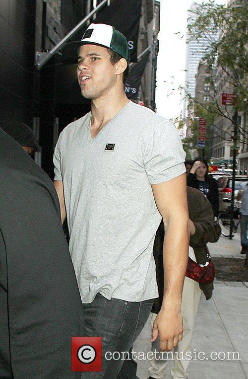 Kris Humphries is seen leaving the Gansevoort Hotel...