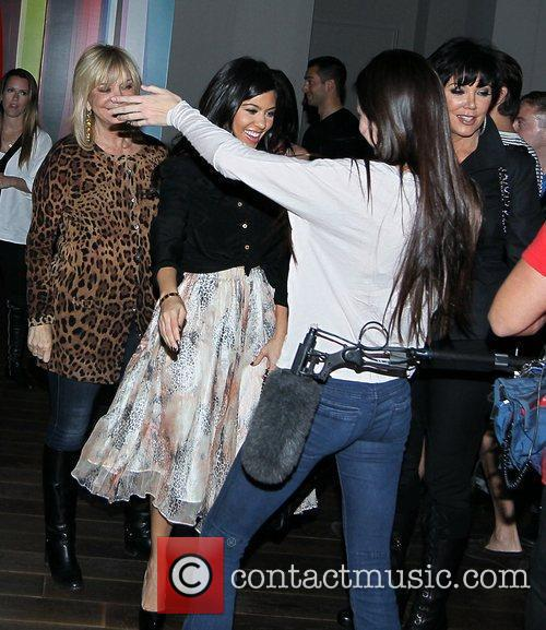 Kourtney Kardashian, Kylie Jenner and Kris Jenner filming...