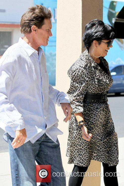 Bruce Jenner and Kris Jenner arriving at Stanley's...