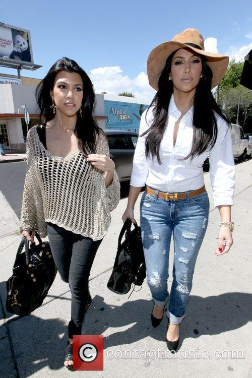 Kourtney Kardashian and Kim Kardashian 10
